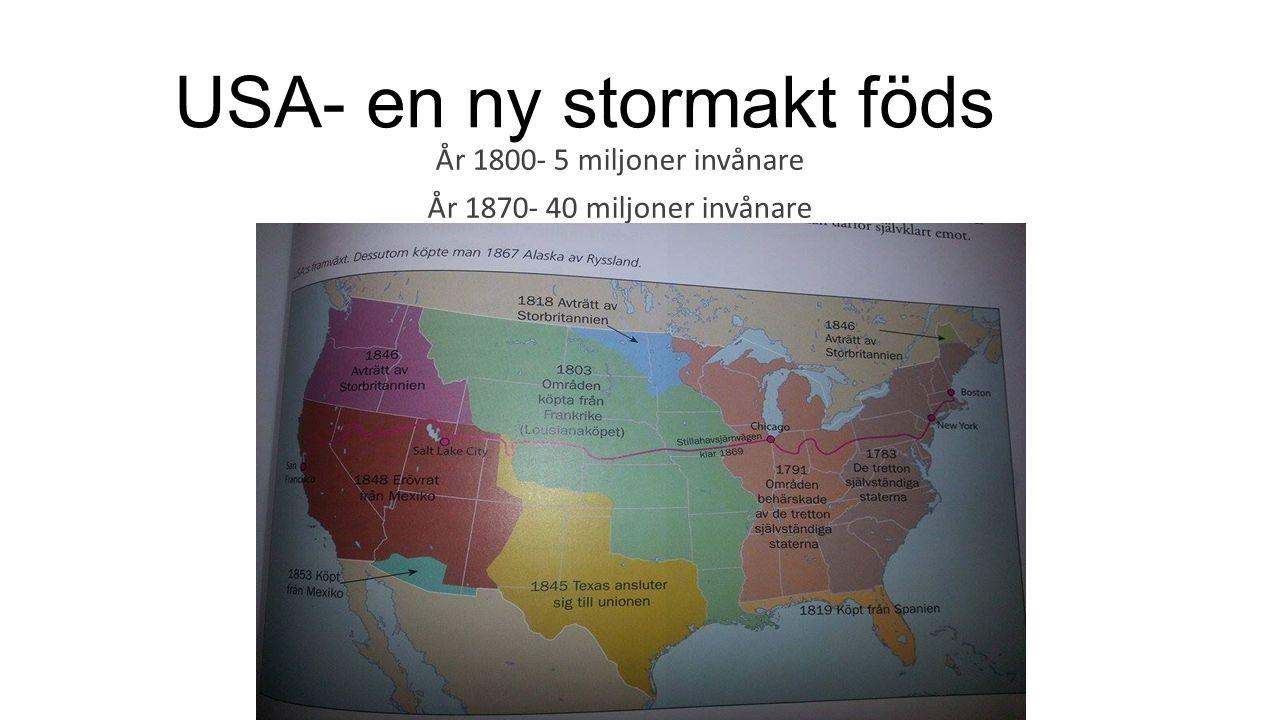 USA- en ny stormakt föds