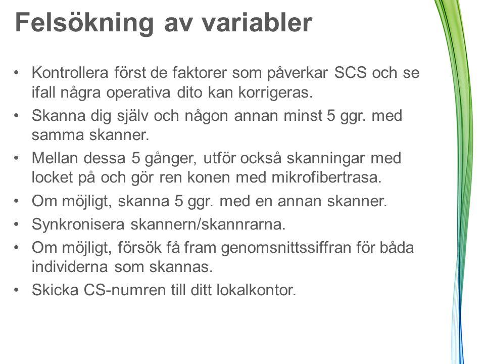 Felsökning av variabler