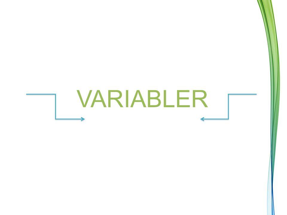 VARIABLER