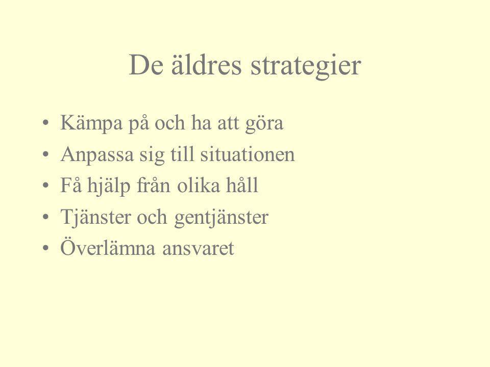 De äldres strategier Kämpa på och ha att göra