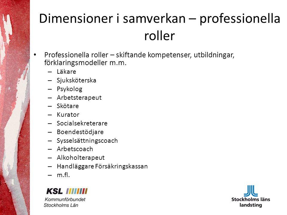 Dimensioner i samverkan – professionella roller