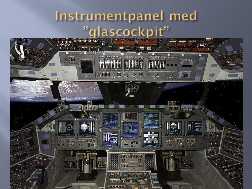 Instrumentpanel med glascockpit