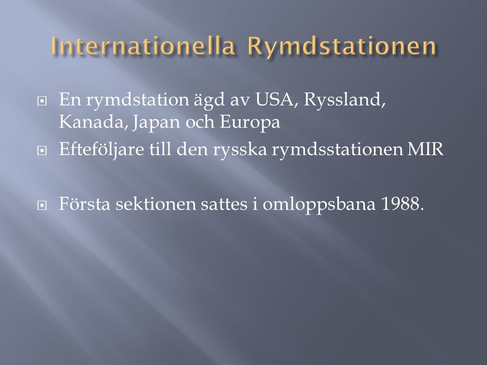Internationella Rymdstationen