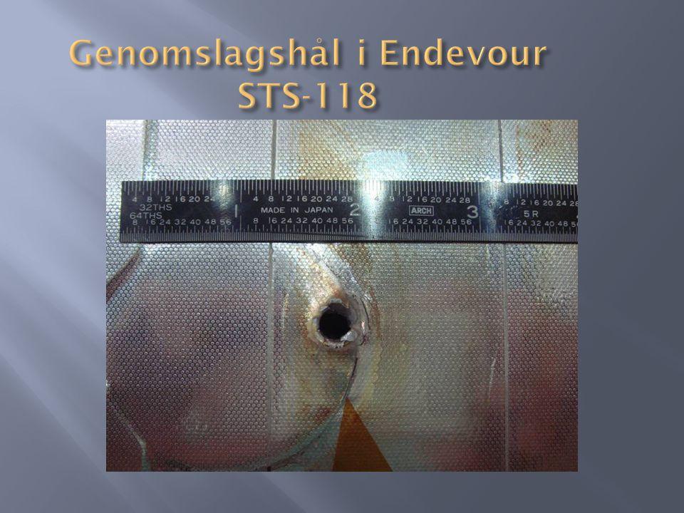 Genomslagshål i Endevour STS-118