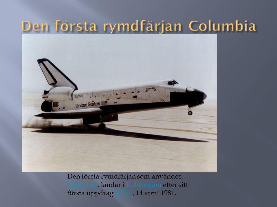 Den första rymdfärjan Columbia