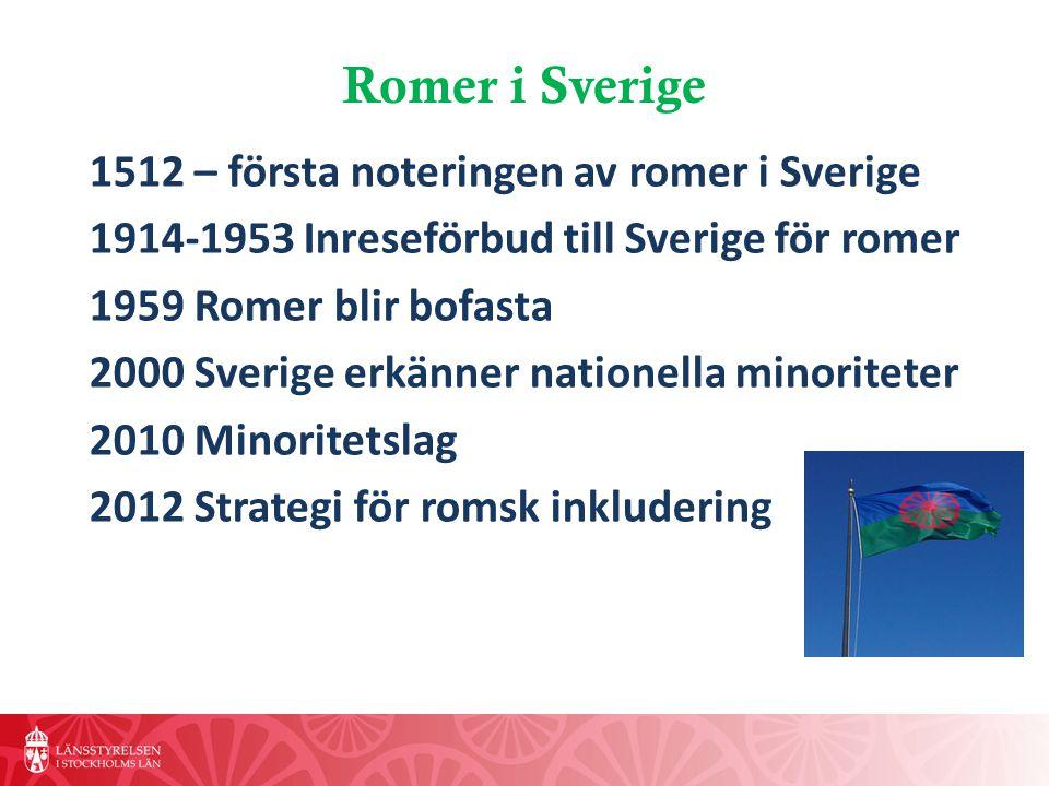 Romer i Sverige 1512 – första noteringen av romer i Sverige