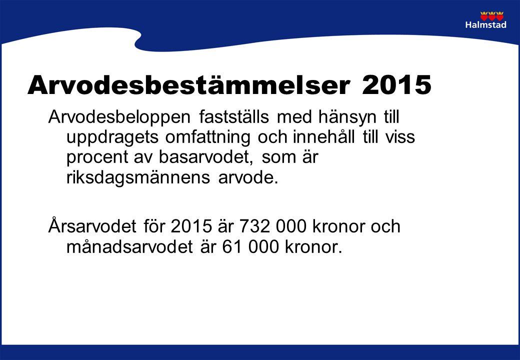 Arvodesbestämmelser 2015