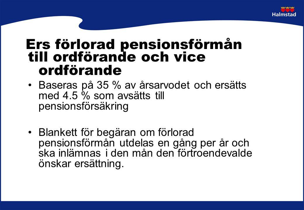 Ers förlorad pensionsförmån