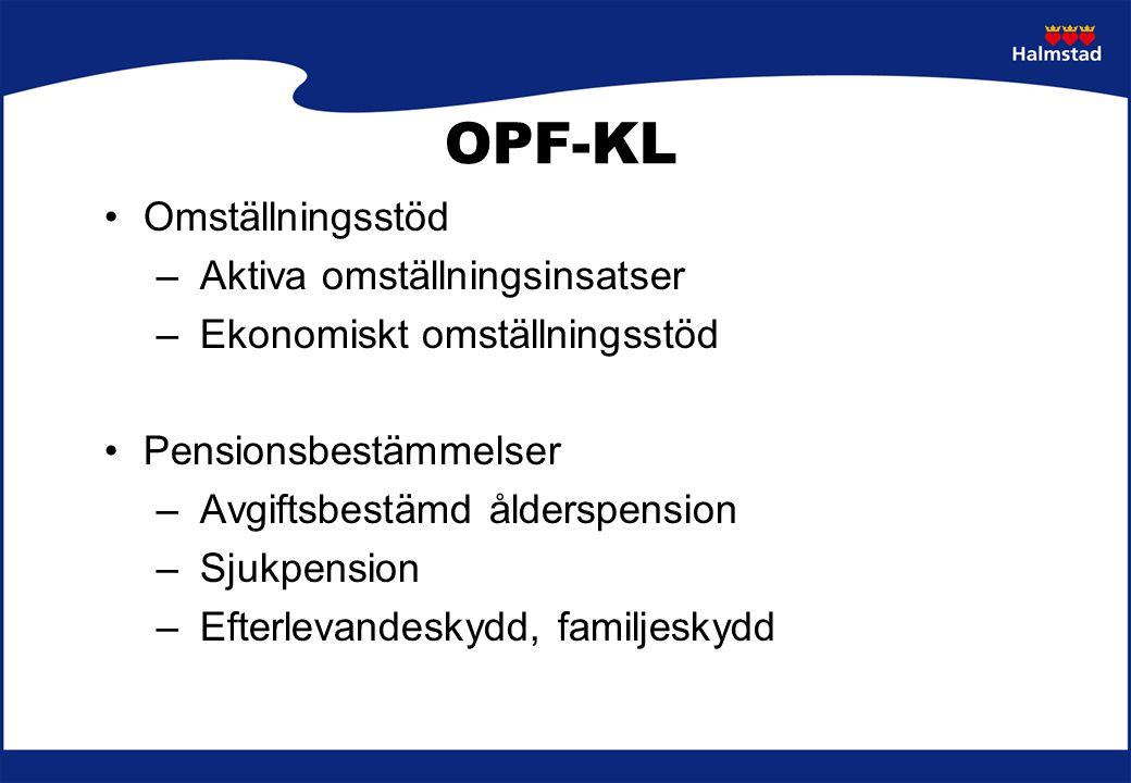 OPF-KL Omställningsstöd Aktiva omställningsinsatser