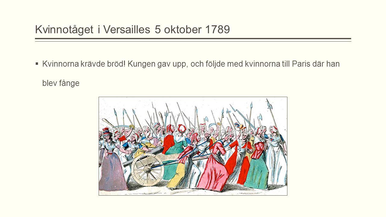 Kvinnotåget i Versailles 5 oktober 1789