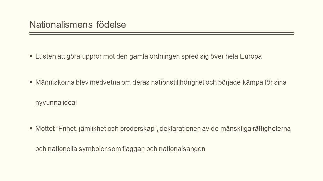 Nationalismens födelse