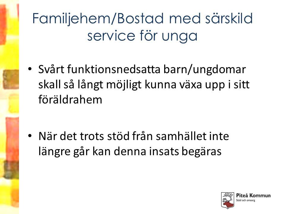 Familjehem/Bostad med särskild service för unga
