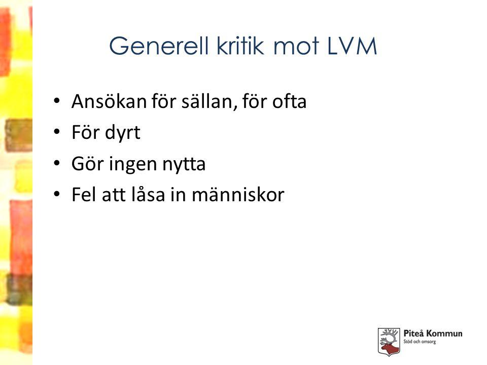 Generell kritik mot LVM