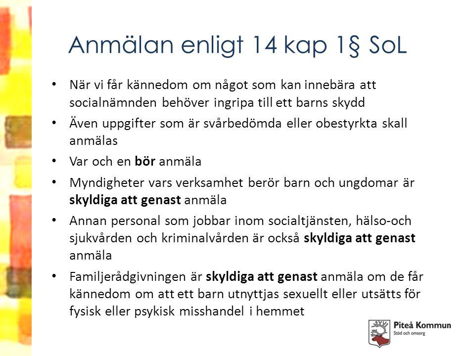 Anmälan enligt 14 kap 1§ SoL