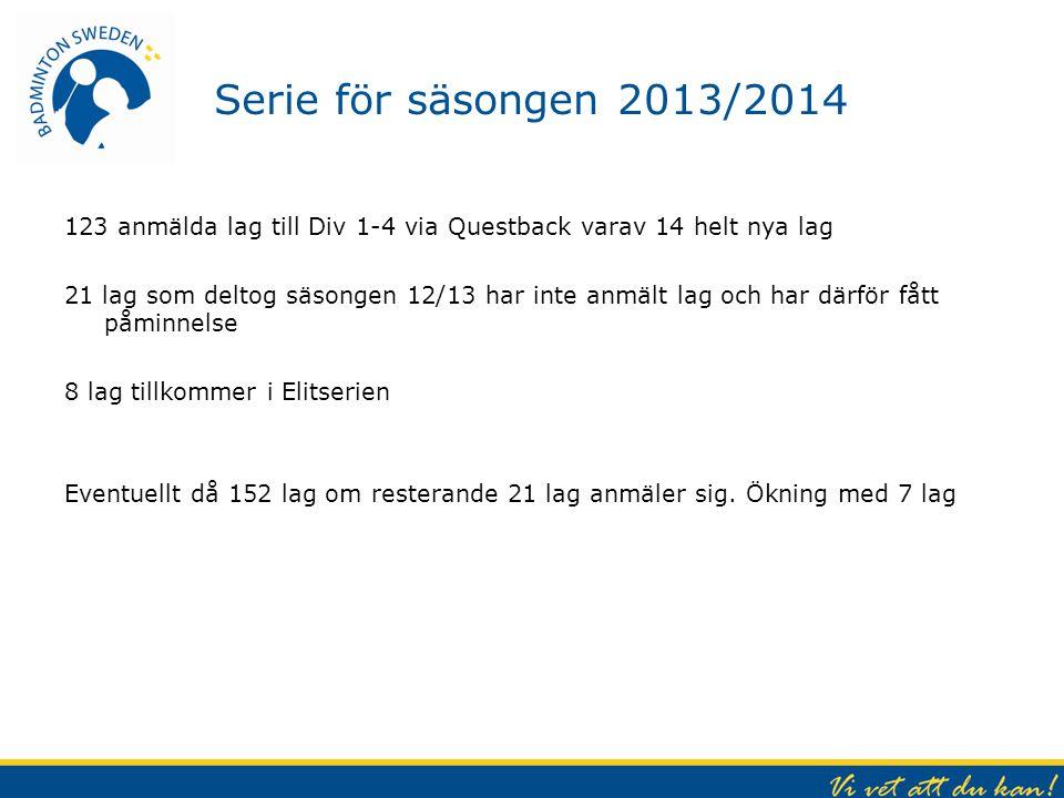 Serie för säsongen 2013/2014