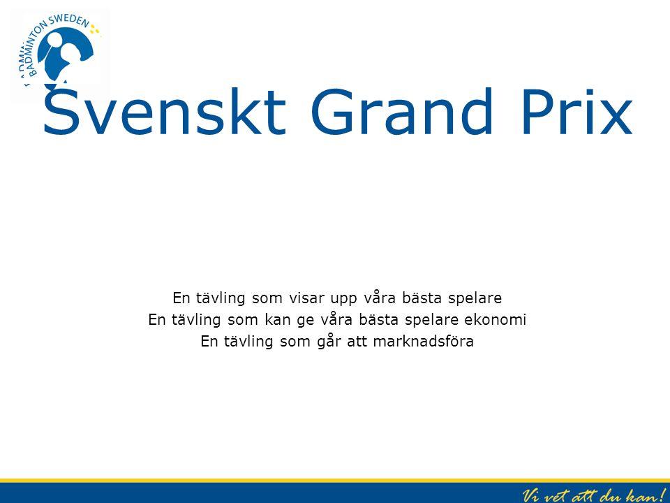 Svenskt Grand Prix En tävling som visar upp våra bästa spelare