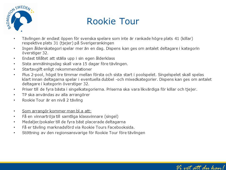 Rookie Tour