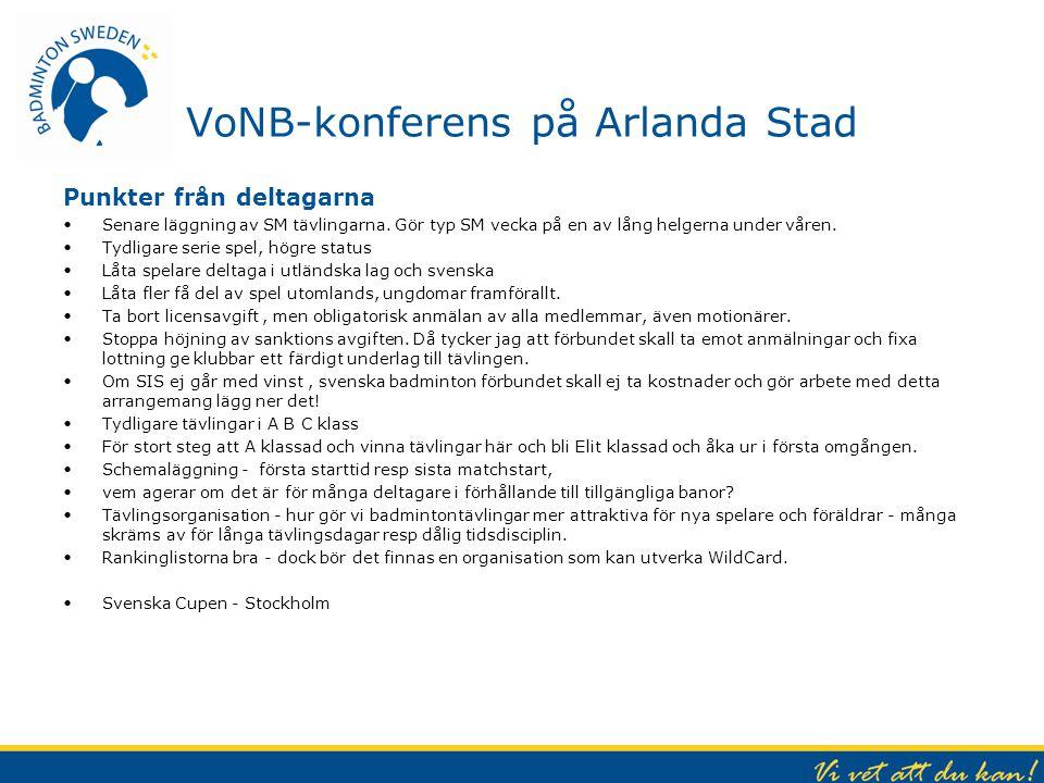VoNB-konferens på Arlanda Stad