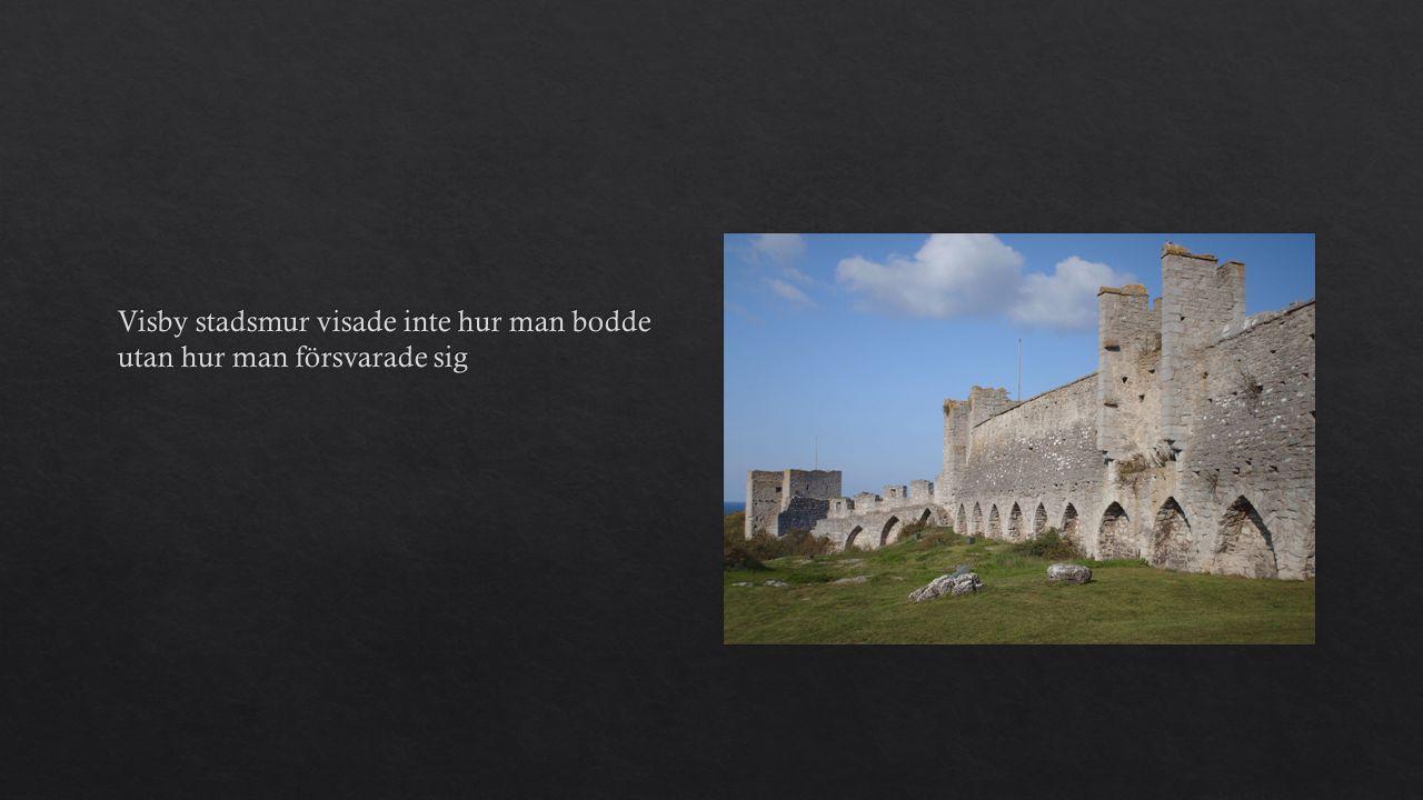 Visby stadsmur visade inte hur man bodde utan hur man försvarade sig