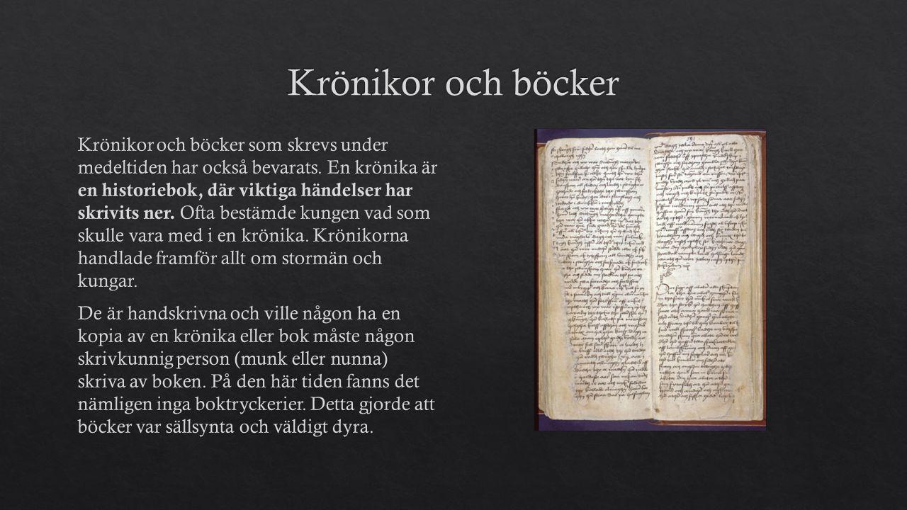 Krönikor och böcker