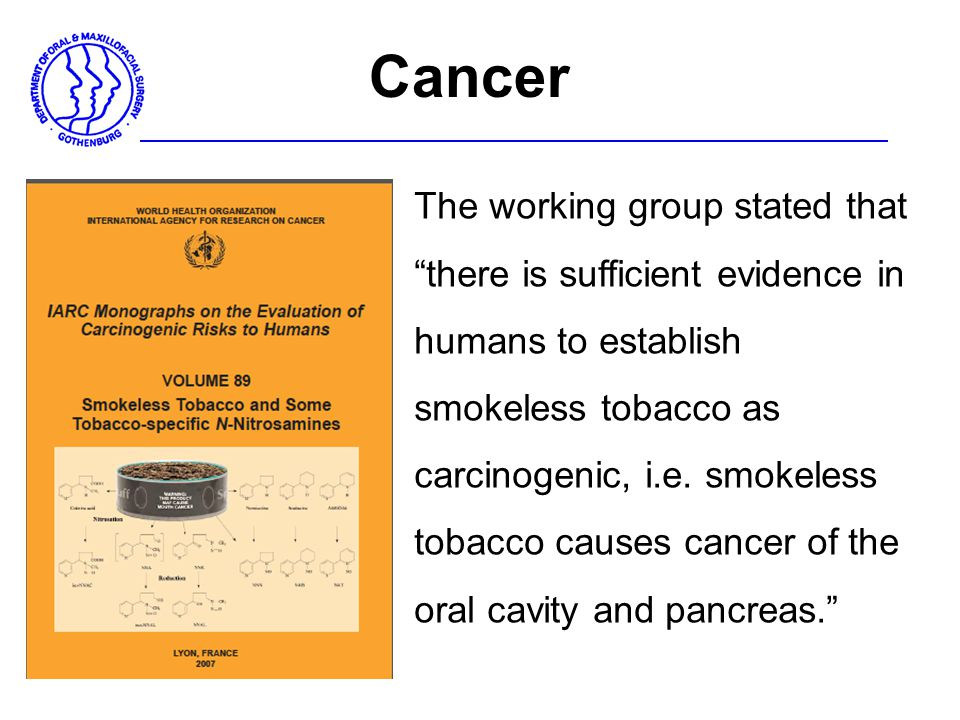 Cancer The working group stated that