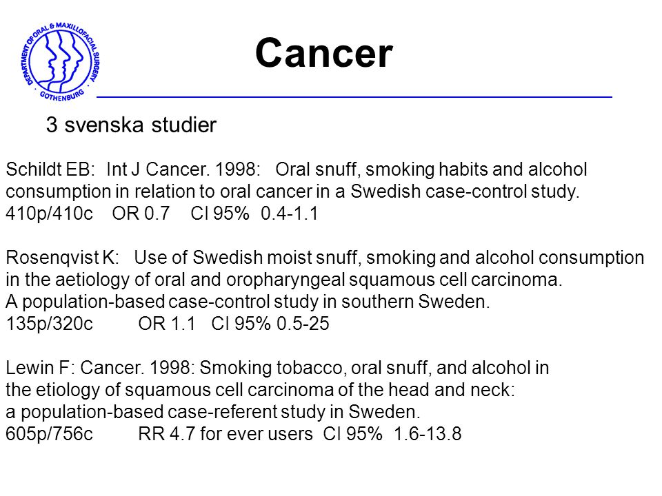 Cancer 3 svenska studier