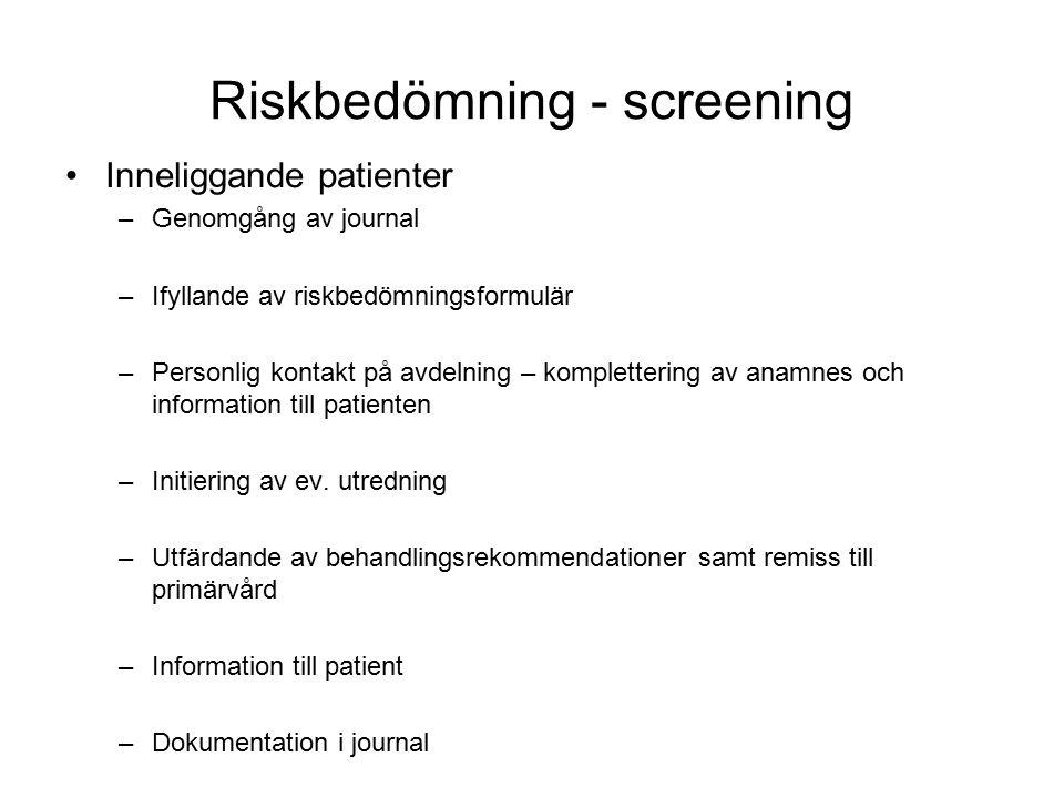 Riskbedömning - screening