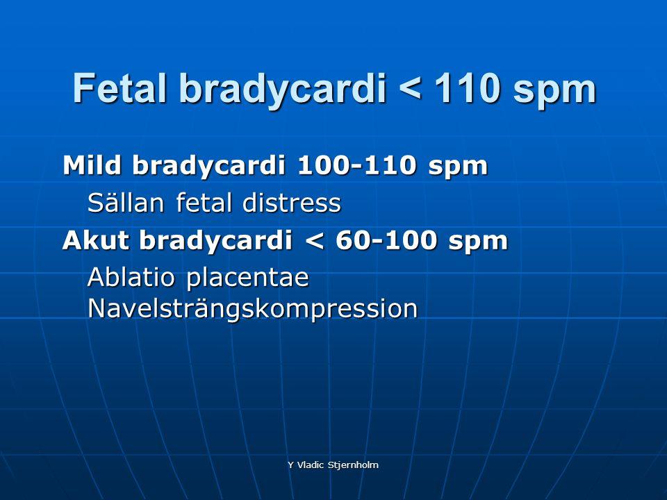 Fetal bradycardi < 110 spm