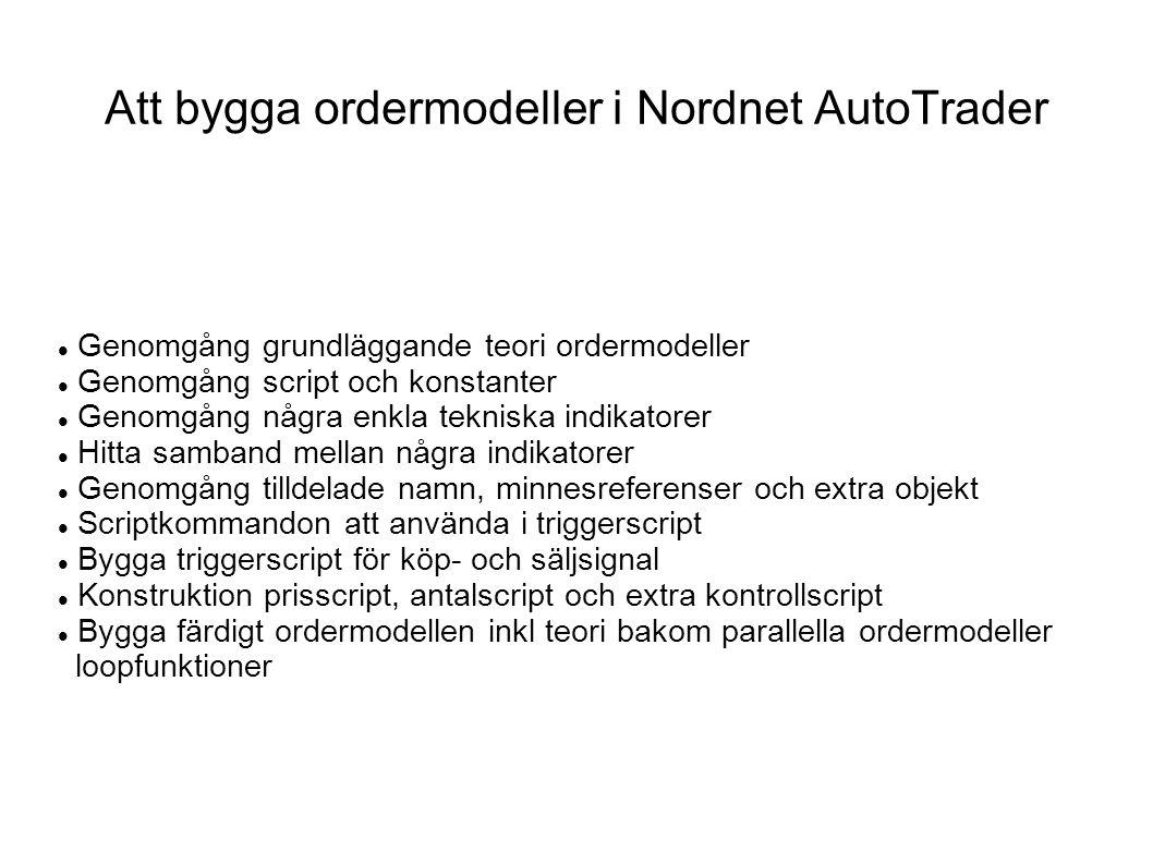 Att bygga ordermodeller i Nordnet AutoTrader