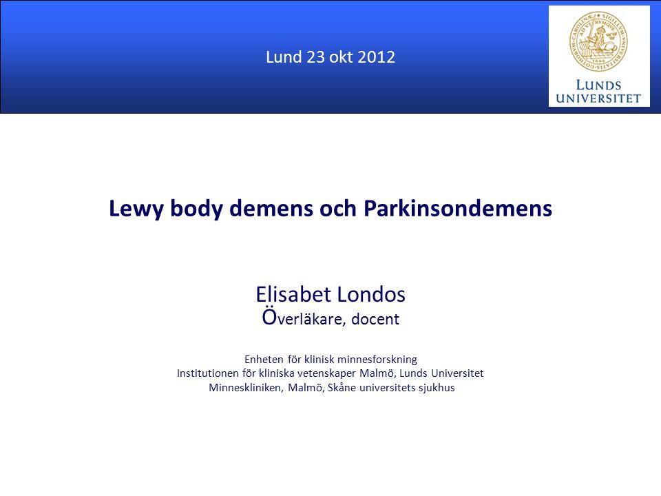 Lewy body demens och Parkinsondemens