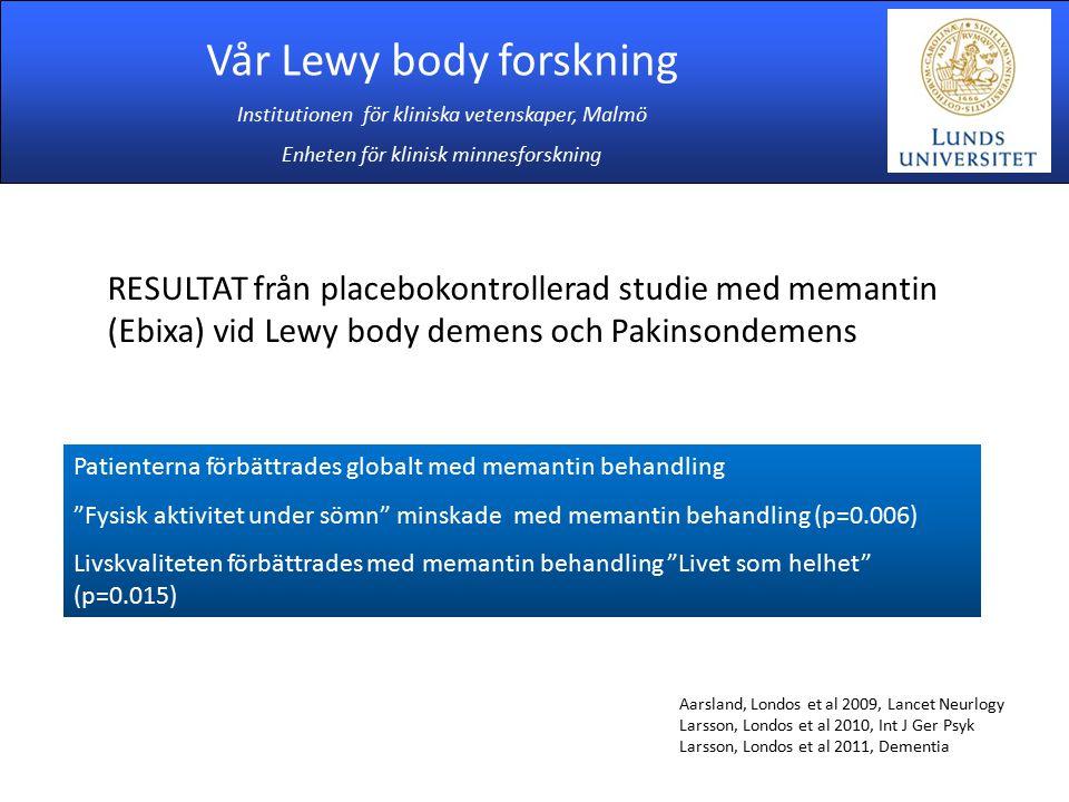 Vår Lewy body forskning
