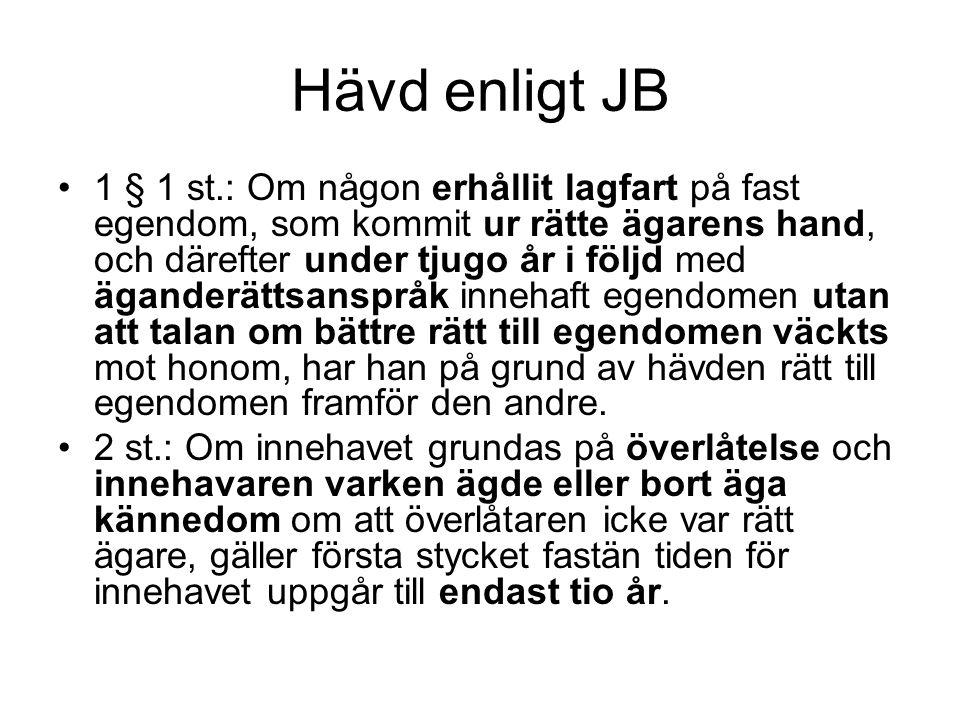 Hävd enligt JB