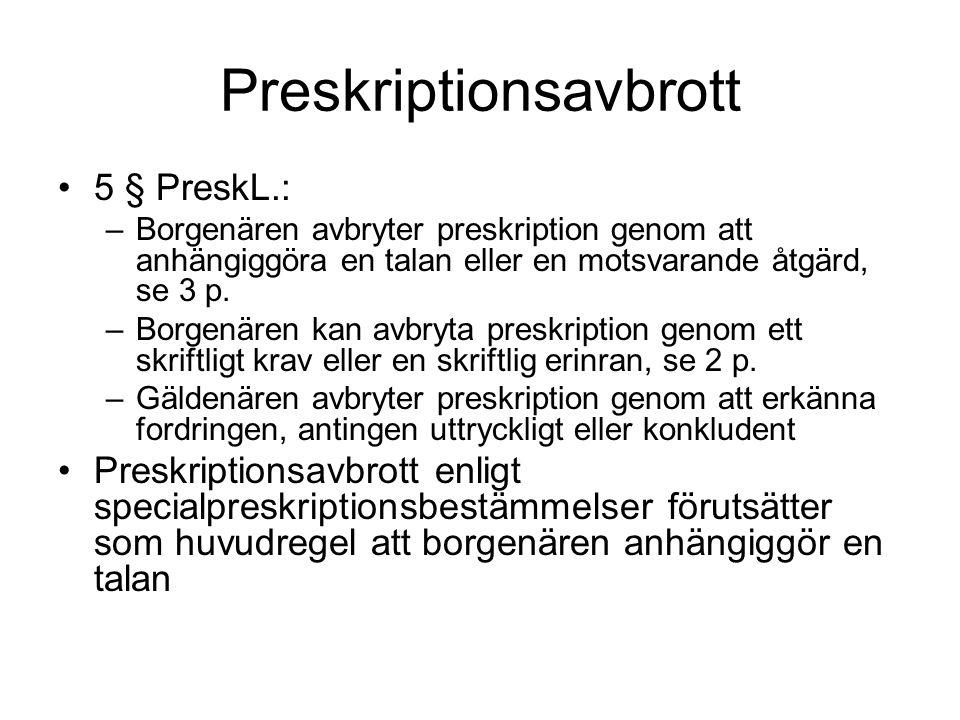 Preskriptionsavbrott