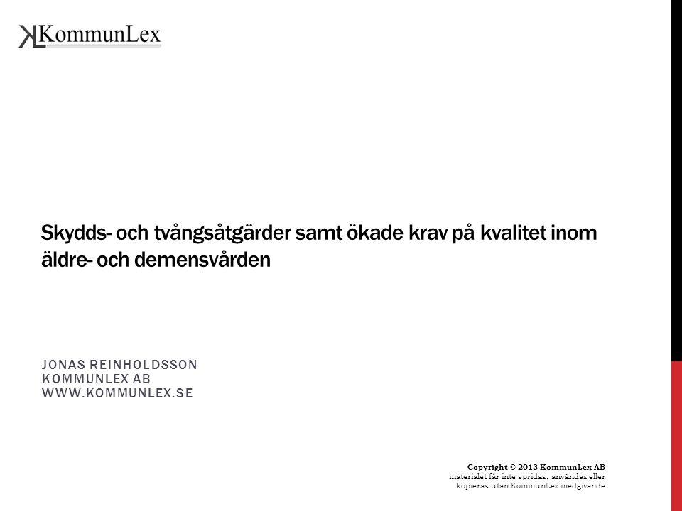Jonas Reinholdsson KommunLex AB www.kommunlex.se