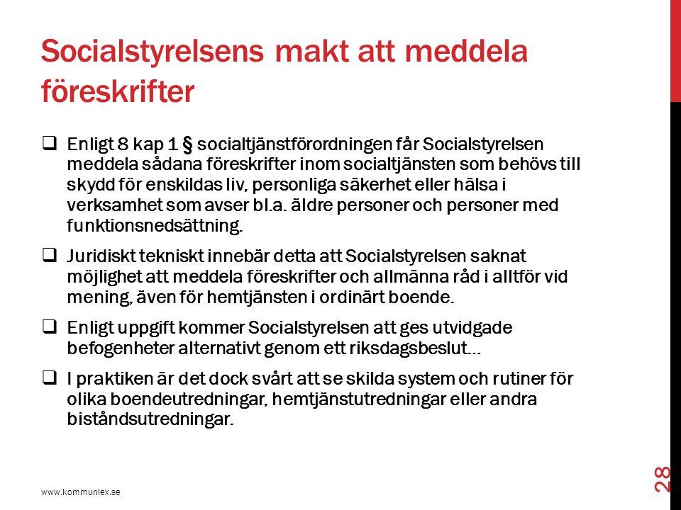 Socialstyrelsens makt att meddela föreskrifter