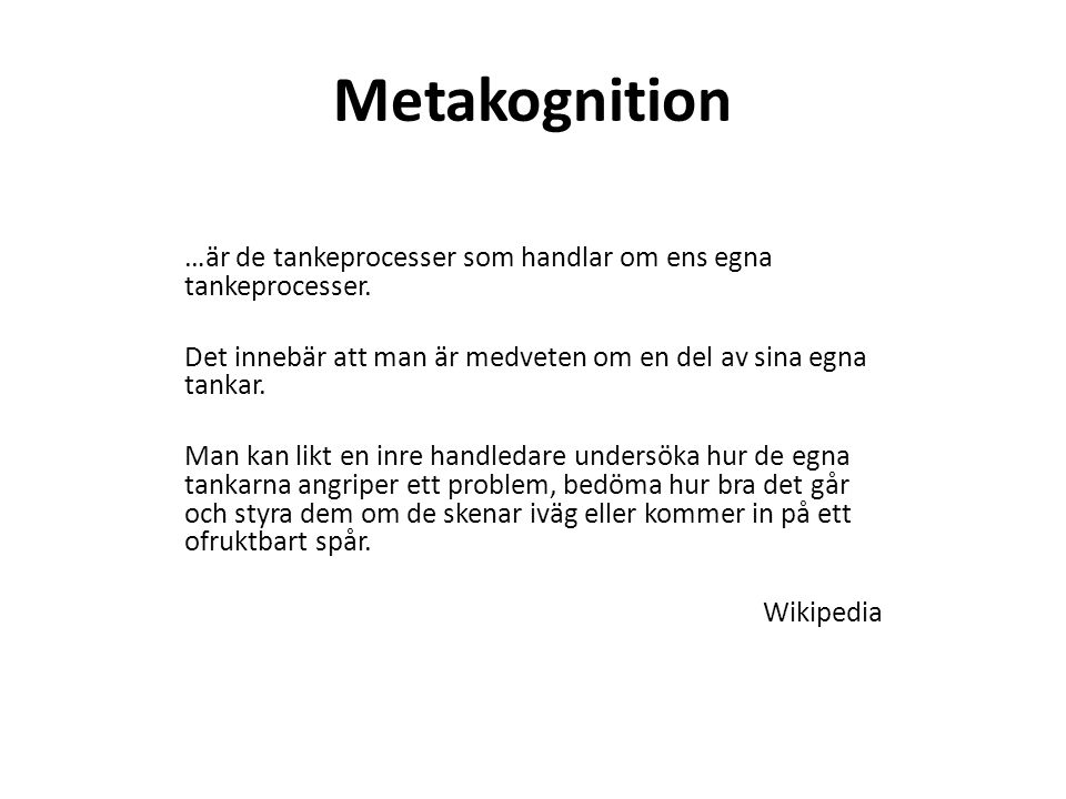 Metakognition