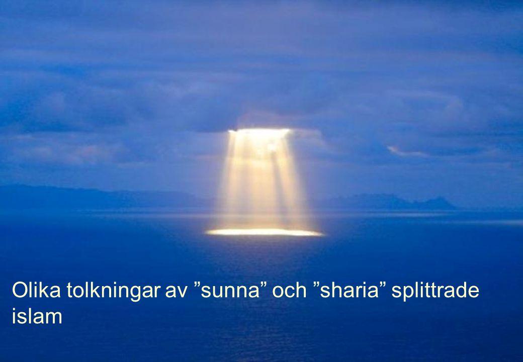 Olika tolkningar av sunna och sharia splittrade islam