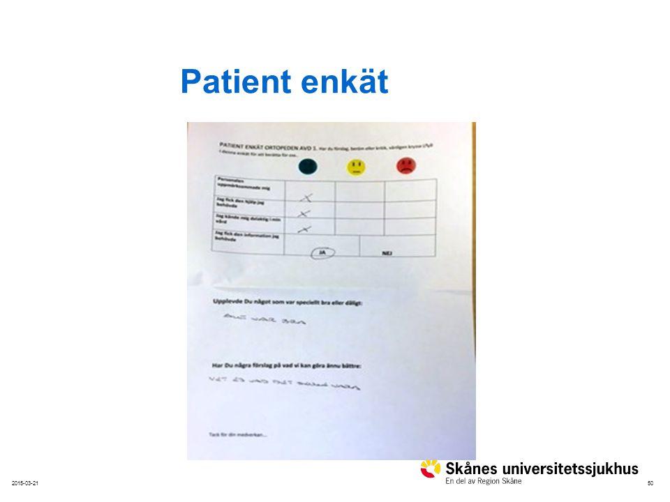 Patient enkät