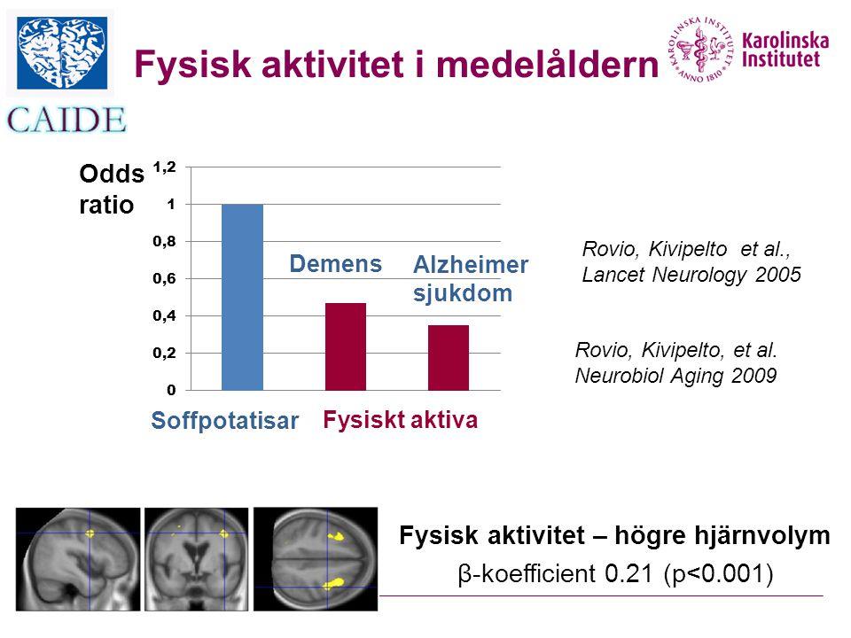 Fysisk aktivitet i medelåldern Fysisk aktivitet – högre hjärnvolym