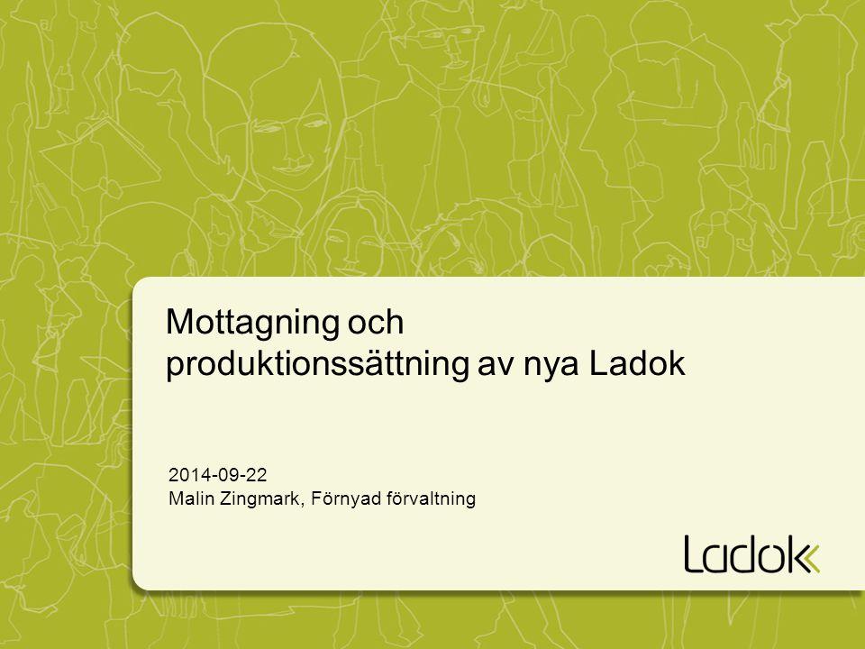 Mottagning och produktionssättning av nya Ladok