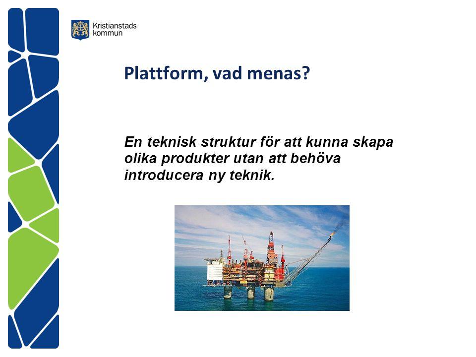 Plattform, vad menas.