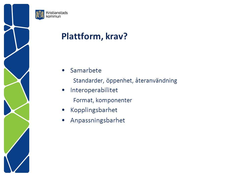 Plattform, krav Samarbete Interoperabilitet Kopplingsbarhet