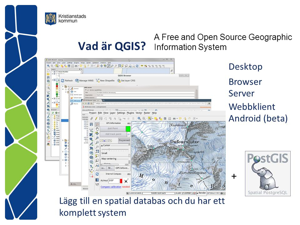 Vad är QGIS Desktop Browser Server Webbklient Android (beta) +