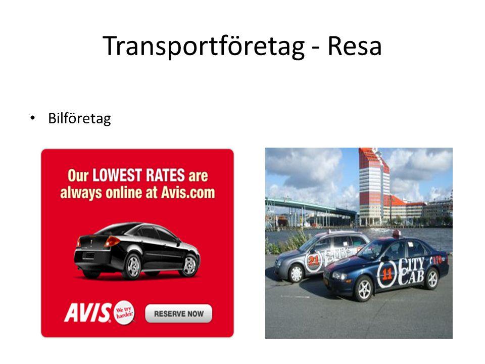 Transportföretag - Resa