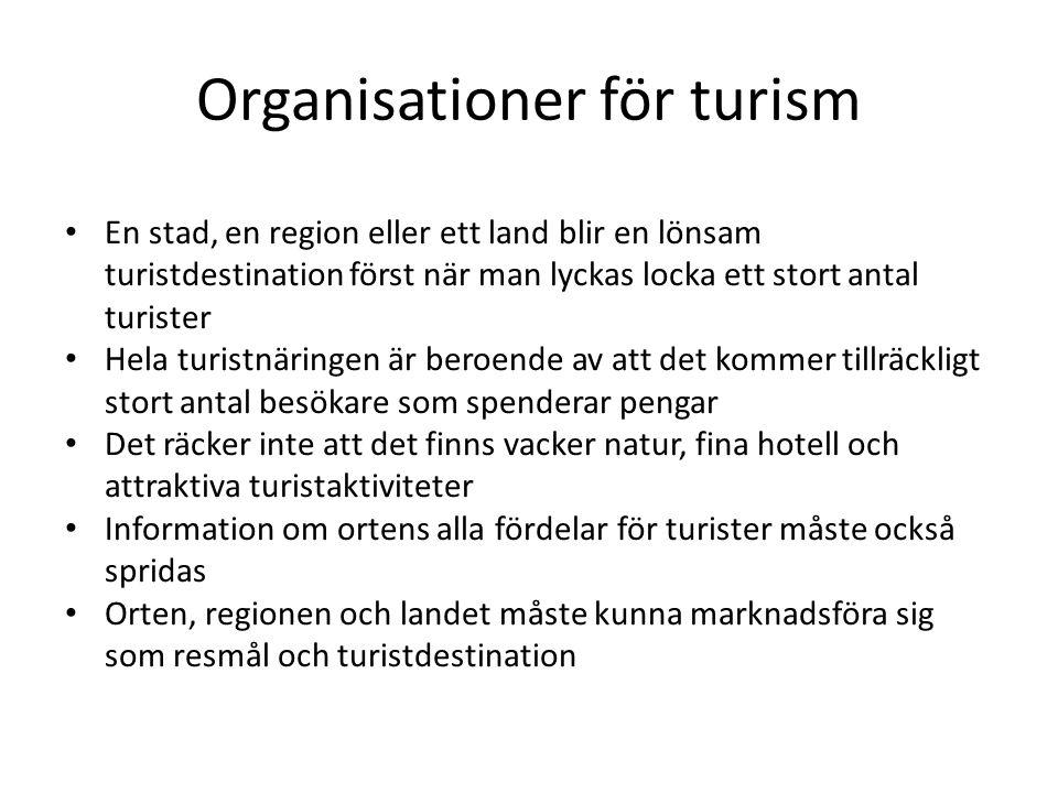 Organisationer för turism