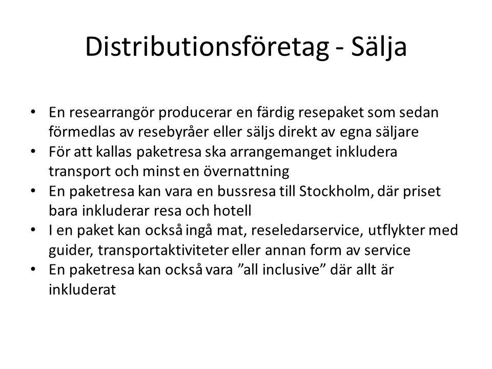 Distributionsföretag - Sälja
