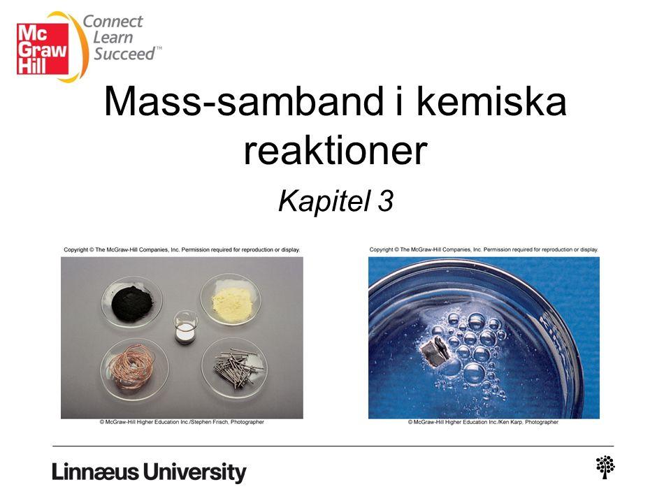 Mass-samband i kemiska reaktioner