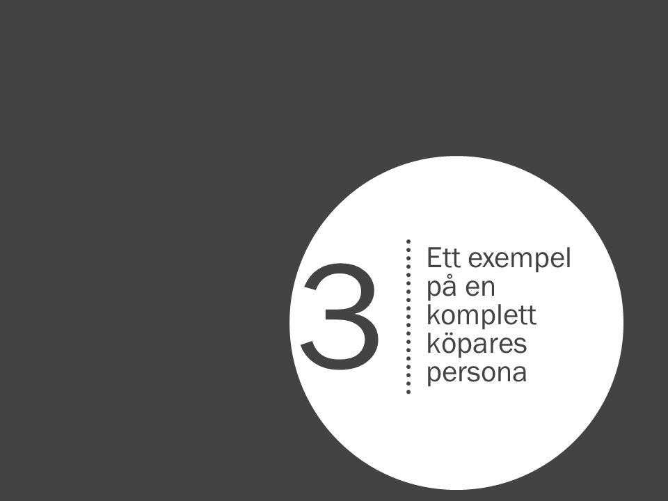 3 Ett exempel på en komplett köpares persona