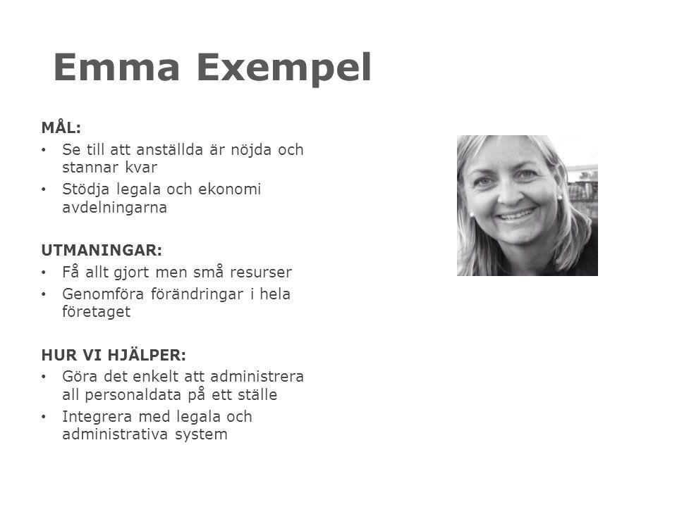 Emma Exempel MÅL: Se till att anställda är nöjda och stannar kvar