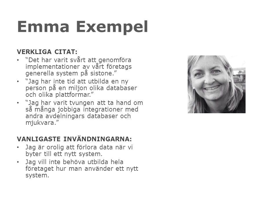 Emma Exempel VERKLIGA CITAT: